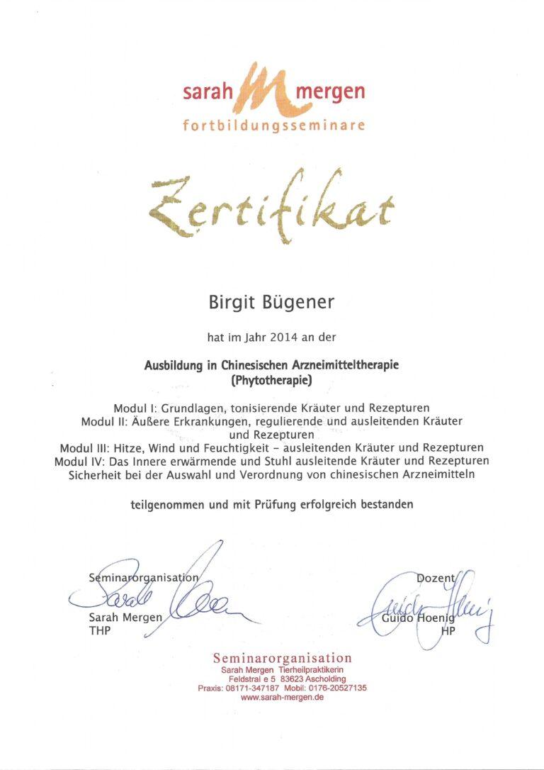 Birgit Bügener - Heilpraktikerin in Jena - _0004_chin Phyto 2014 Guido Hoenig